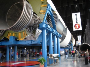 Saturn V rocket at the Davidson Center for Space Exploration